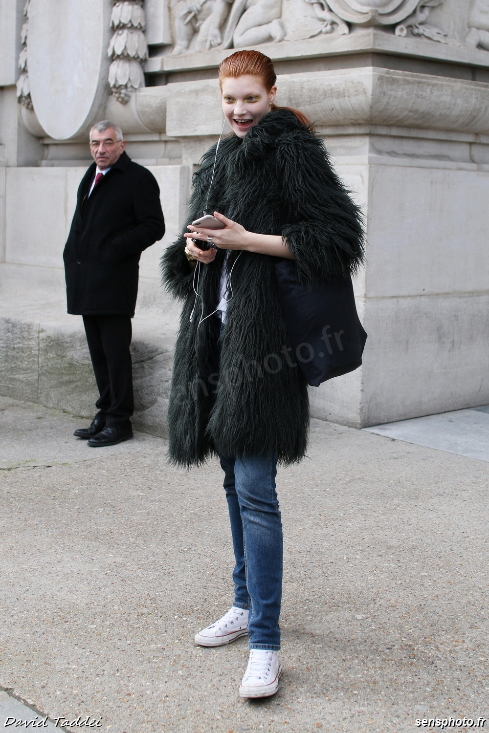 Anastasia Ivanova after Guy Laroche Show #ParisFashionWeek