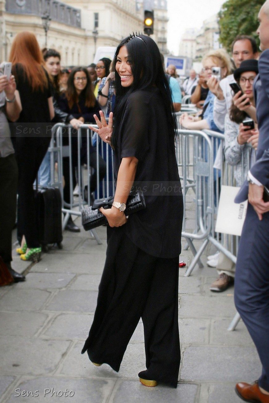 Anggun attends Fashion Week