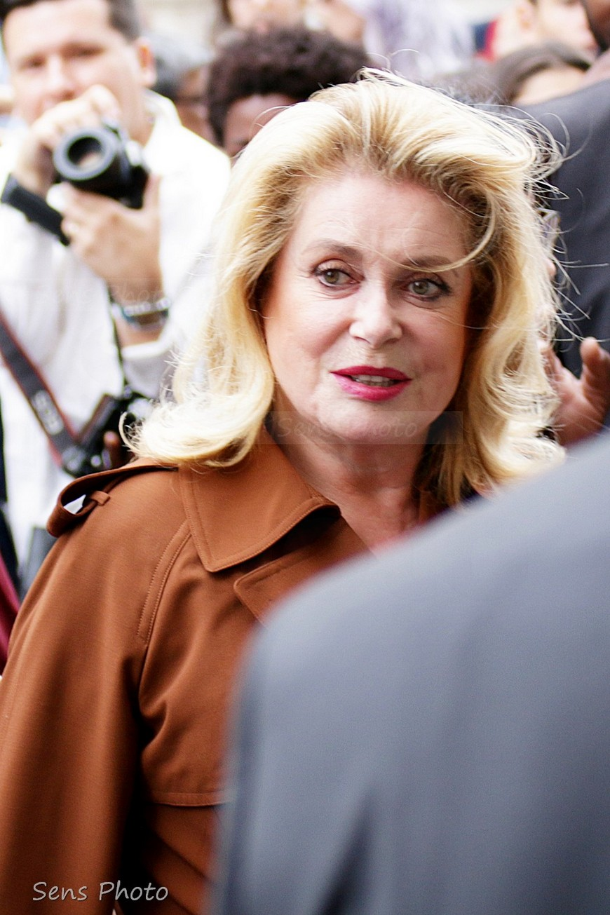 Catherine Deneuve attends Jean Paul Gaultier Paris Fashion Week