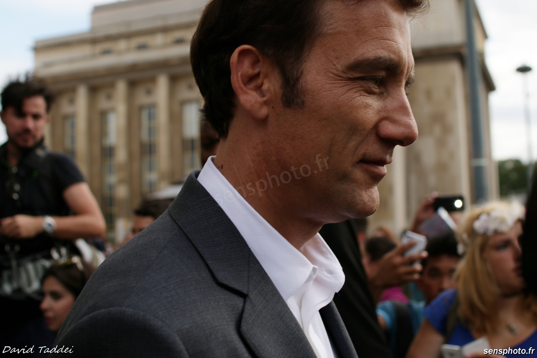 Clive Owen Paris Fashion Week Armani