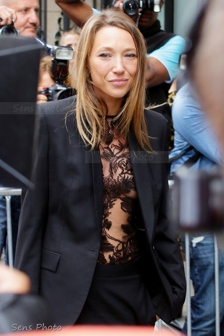Laura Smet attends Jean Paul Gaultier Fashion Show