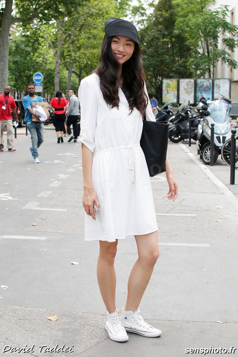 Lingyue Zhang, after Zuhair Murad show at Paris Fashion Week 2015-07-09