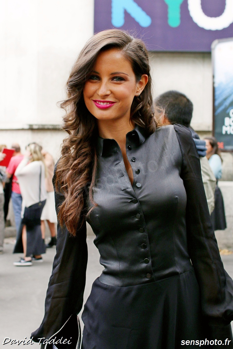 Malika Ménard (Miss France 2010), after Zuhair Murad show at Paris Fashion Week 2015-07-09