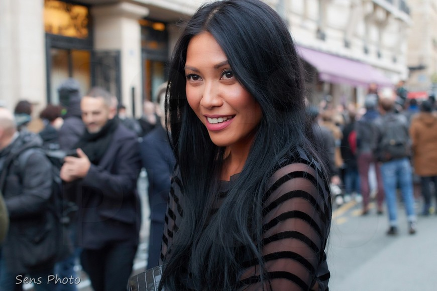 Anggun attends Jean Paul Gaultier at Paris Fashion Week Haute Couture