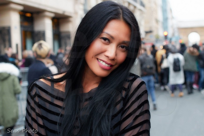 Anggun Cipta Sasmi after Jean Paul Gaultier at Paris Fashion Week Haute Couture