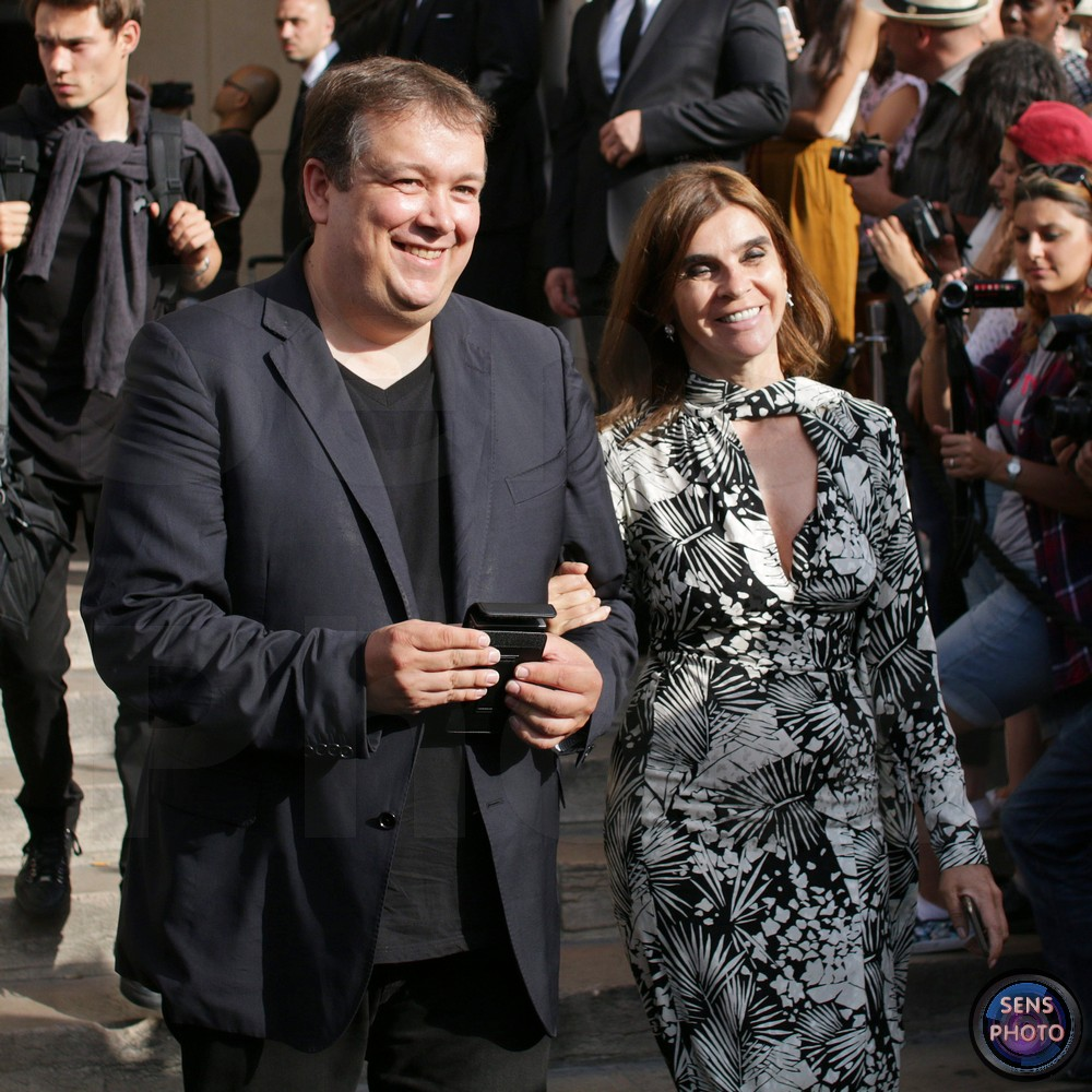 Carine Roitfeld attends Armani Show @Paris Fashion Week Haute Couture