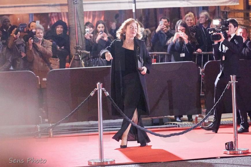 Catherine Frot arrive à la 41e cérémonie des César 2016