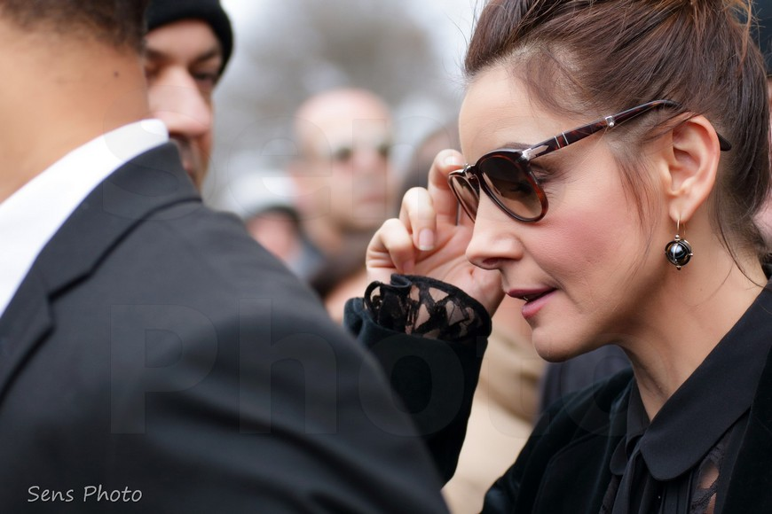 Clotilde Courau after Elie Saab Fashion Show