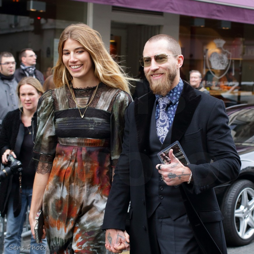 Justin O'Shea and Veronika Heilbrunner Jean Paul Gaultier attend Jean Paul Gaultier at Paris Fashion Week Haute Couture