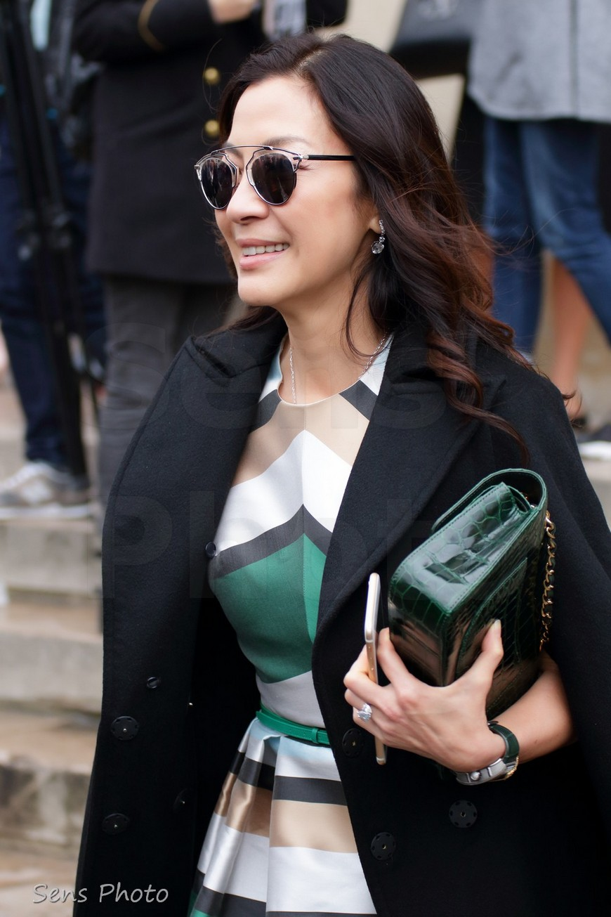 Michelle Yeoh at Paris Fashion Week after Elie Saab Fashion Show
