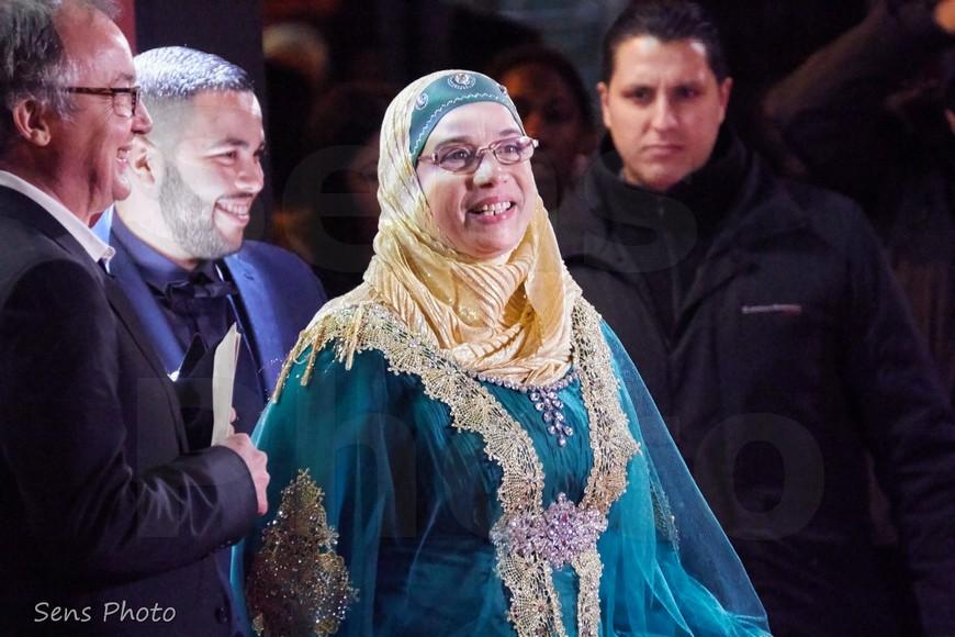 Soria Zeroual arrive à la 41e cérémonie des César 2016