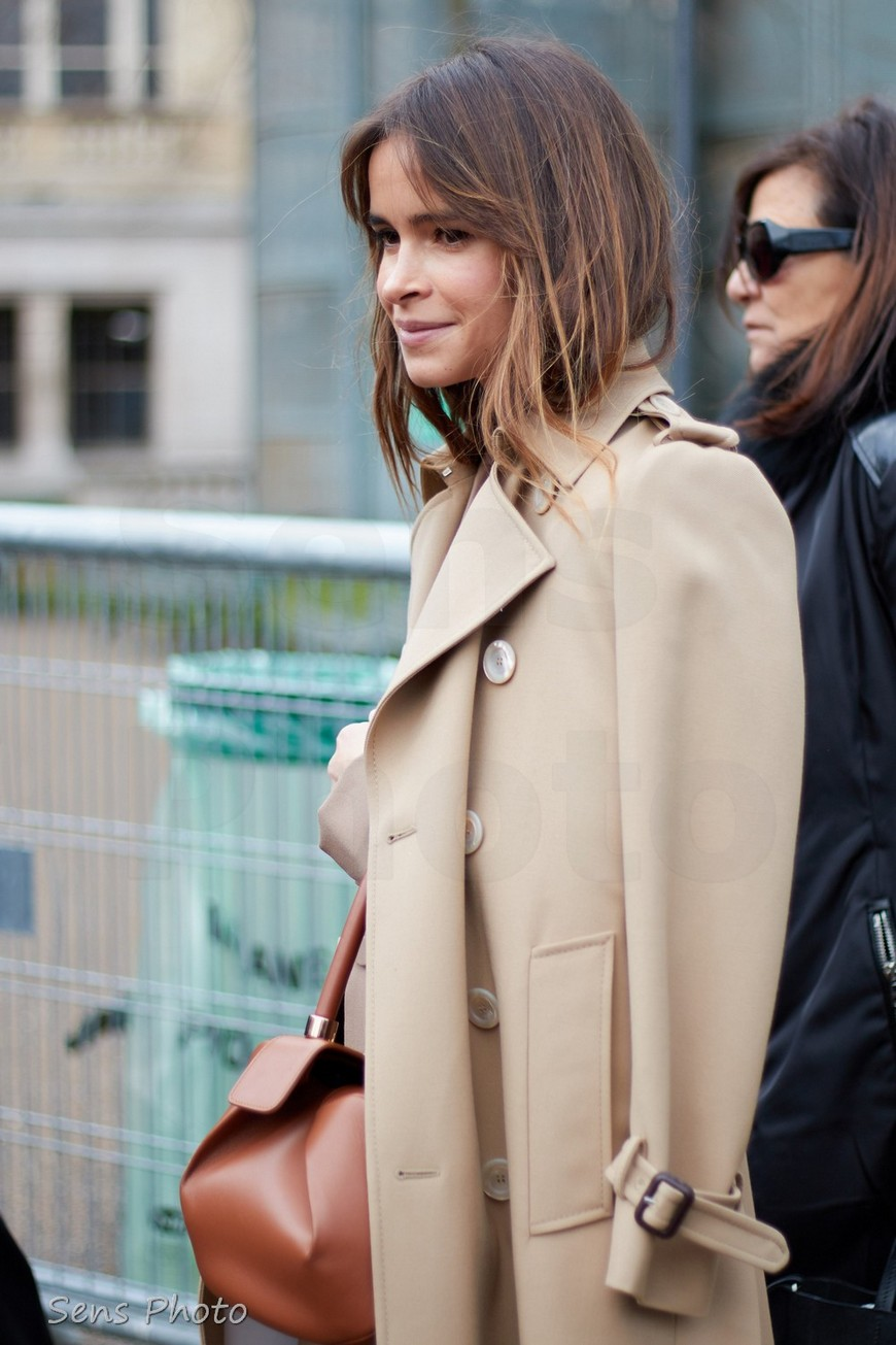 Miroslava Duma after Giambattista Valli fashion show
