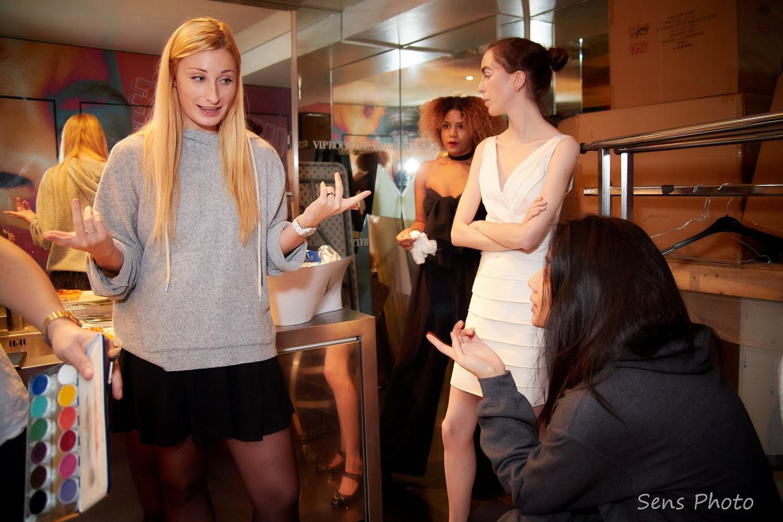 Emmanuelle Cotte briefing avant le défilé Emmanuelle C. Paris x VIP Room