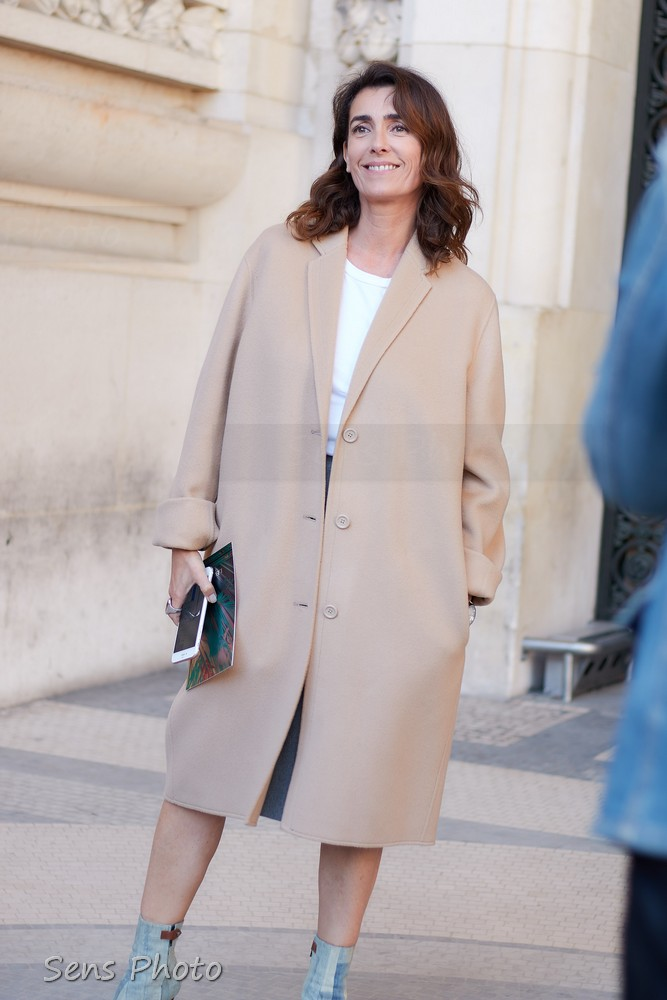 Mademoiselle Agnès après le défilé Leonard Paris Fashion Week