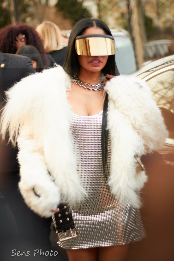 Nicki Minaj street look during Paris Fashion Week