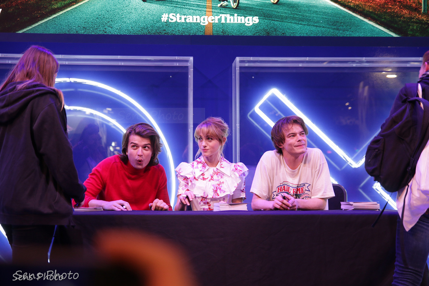 Stranger Things avec Joe Keery, Natalia Dyer et Charlie Heaton